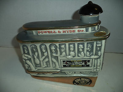 Ezra Brooks, Sippi'n Whiskey Heritage China Decanter, Trolly EX