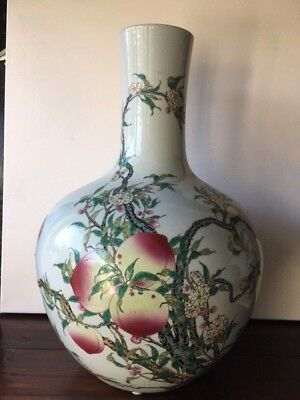 Chinese, Very Large, Massive Vase Qianlong Red Mark - Enorme vaso cinese