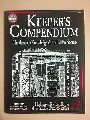 Keeper's Compendium – Call of Cthulhu; 1993, Chaosium
