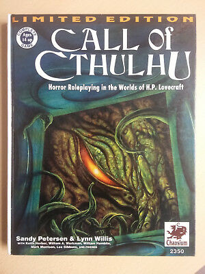 Call of Cthulhu Rulebook 5th Limited Ed.; 1993, Chaosium