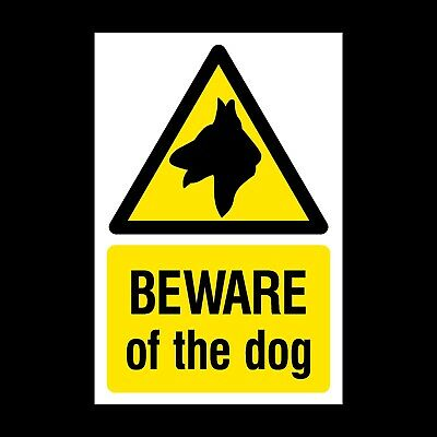 Beware of the Dog (Guard Dogs) Plastic Sign or Sticker - A6, A5 (MISC20)