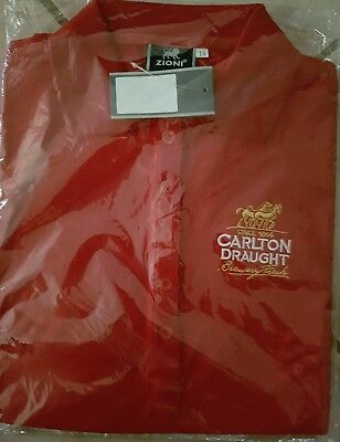 Carlton  Draught Polo  Shirt  Red- Never Worn