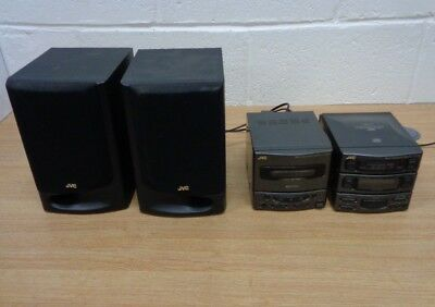 JVC Micro Component System Hifi System UX-A4 CD Cassette Radio Speakers