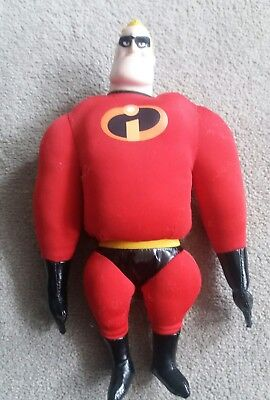 Disney Store The incredibles Mr Incredible Plush Soft Toy Stuffed teddy 13""