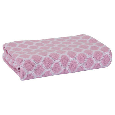 Home Kitted Blanket in Honeycomb Pink