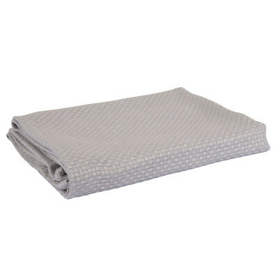 Home Bamboo Basket Weave Blanket in White