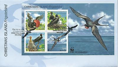 2010 Frigatebird Mini Sheet FDI 17 Aug Christmas Island 6798 Special P/Mark