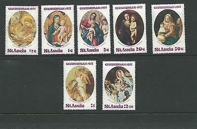 1977 Christmas  SG 456-462 Complete MUH/MNH Couple have minor tones on rear
