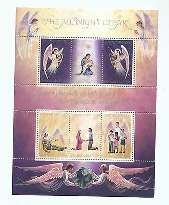 1980 The Midnight Clear Christmas Mini Sheet Complete MUH/MNH as Purchased