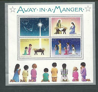 1981 Away In A Manger Christmas Mini Sheet Complete MUH/MNH as Purchased