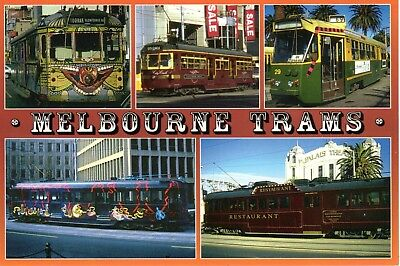 Sydney Hughes Postcard MG-30, Melbourne Famous Trams -  unused