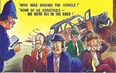 Vintage 1970's Bamforth COMIC Postcard (as new condition) All in the back #2426