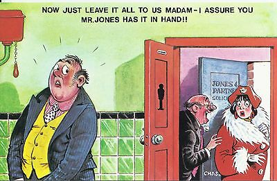 Vintage 1970's Bamforth COMIC Postcard (as new condition) Has it in Hand #520