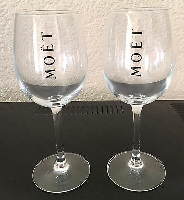 Moet Chandon Glass   Ice Imperial Glass  Champagne Flutes  Rare X 2 Unboxed