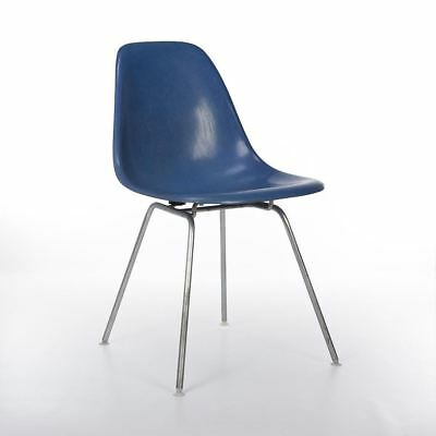 Electric Blue Herman Miller Vintage Original Eames DSX Dining Side Shell Chair
