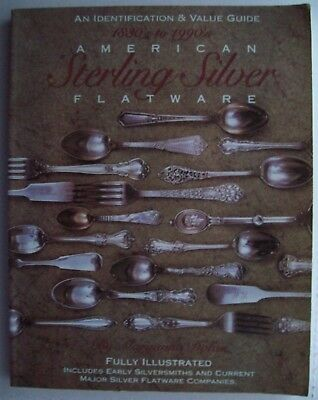 FLATWARE STERLING SILVER PRICE GUIDE COLLECTOR'S BOOK Serving Fork Knife Spoon