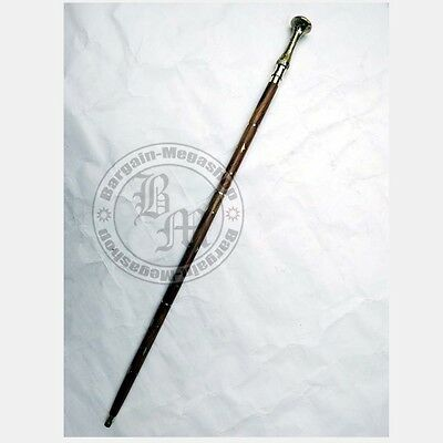 Brass Designer Antique Style Cane Wooden Walking Stick Vintage Canes handle Frt1