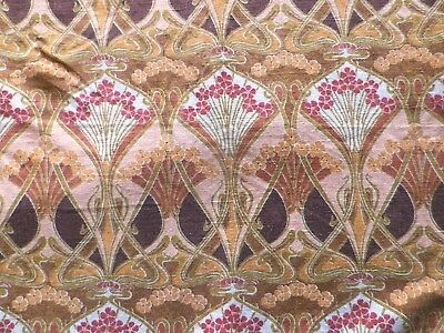 Vintage Liberty Linen Interiors Fabric 'Ianthe' Art Nouveau Design