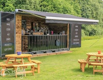 Mobile outdoor shipping container bar - weddings, parties, festivals etc