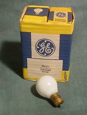 GE # 113 PH113 Photo Enlarger Lamp 50 watt 115-125 volt White Bulb New Pak of 6