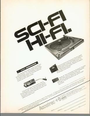 1979 ADC Accutrac +6 Plus Six Turntable Record Player Hi-Fi Vintage Print Ad 70s