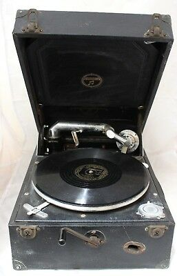 COLUMBIA Portable 1930's Gramophone Player with Records - 250