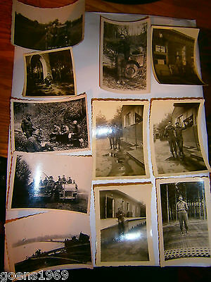 ORIGINAL WW2 US ARMY Wire Div. Lot of PHOTOGRAPHS  RHINE RIVER DATED 1945