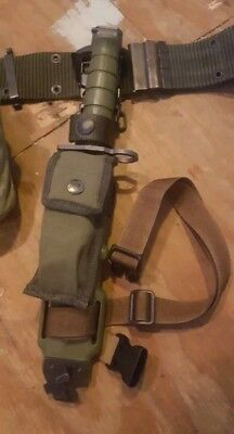 M9 knife Tri Technologies w/scabbard, pouch, and legstrap USGI NEW NEVER issued!