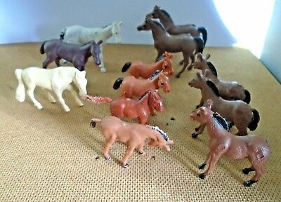 Job lot plastic toy farm animals - Horses young foals colts / Filly's