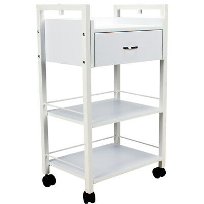 Beauty salon spa trolley roll cart table styling storage drawer cabinet 5051e