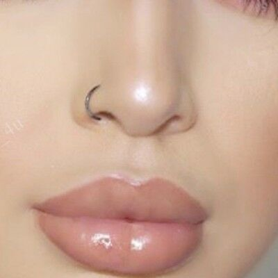 Fake Nose Ring Septum Ring Hoop Cartilage Tragus Helix Small Thin Piercing Stud