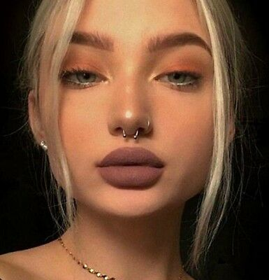 Silver Nose Ring Hoop Ear Septum Helix Cartilage Tragus Small Thin Piercing