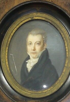 Miniature Period Restauration Man With Frock Coat Painted Handmade (A463)