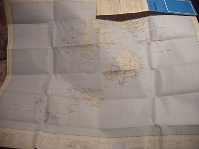 ISLES OF SCILLY: VINTAGE ORDNANCE MAP:1964+ :BEST 2 1/2 INCH SCALE 1st EDITION