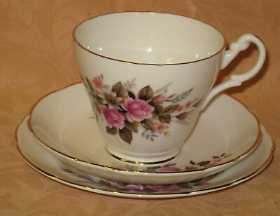 UNUSED Royal Stuart English Bone China Cup Saucer & Plate Trio - more available
