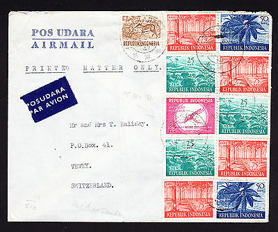 Indonesian Indonesia cover Djakarta to Switzerland See condition description