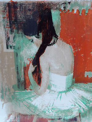 Lithography On Paper Signed Paul Collomb Ballerina 50/70 (C446)