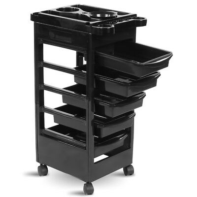 Salon hairdresser barber beauty storage trolley hair drawers colouring cart 048e