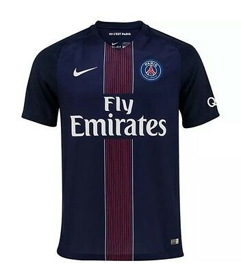 Nike Mens Paris Saint Germain Home Shirt 2016-2017 SIZE MEDIUM 776929-410