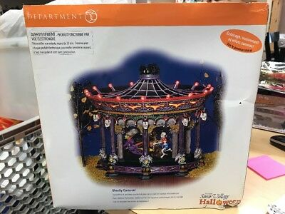 Dept 56 Ghostly Carousel Halloween Snow Village Department 56 #56.55317 Animated