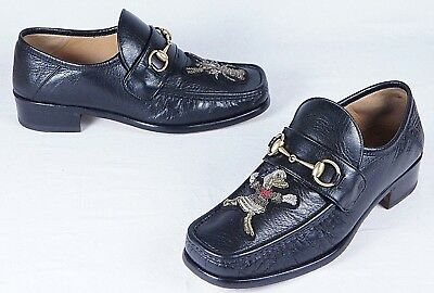 05159340a GUCCI X DISNEY Horsebit leather loafer with appliqués (Mens 8UK/8.5 ...