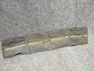 Vintage Talon Meadville PA Workers Zipper Pouch Old Denim Needs Cleaned