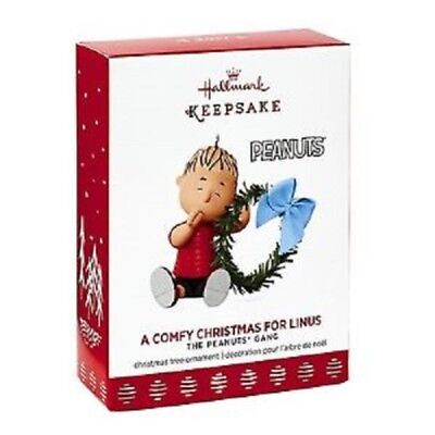 Hallmark 2017 Peanuts A Comfy Christmas for Linus Ornament Brand New Unopened