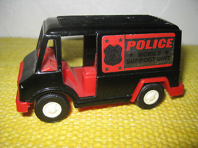 1970 Tootsietoy Diecast Police Mobile Support Unit Panel Truck Nice Usa