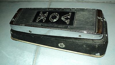 Vintage Vox wah, red fasel inductor... perhaps from the late sixties
