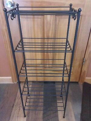 Longaberger Foundry WROUGHT IRON 5 TIER BASKET SHELF RACK STAND *