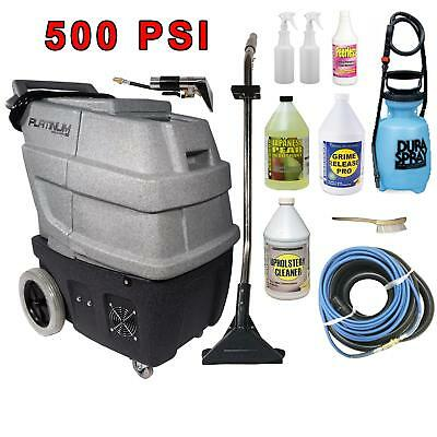 Platinum Portable Extractor Package; 500 PSI, 2-2 Stage Vacs, Dual 1000w Heaters