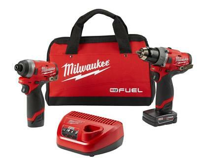 Milwaukee 2598-22 M12 FUEL 2-Tool Drill Driver and Impact Driver Combo Kit