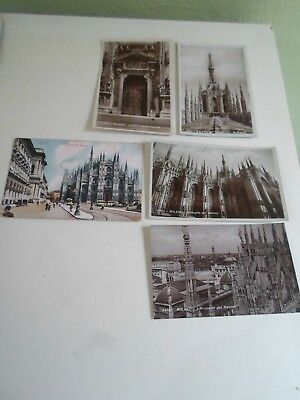 Job Lot Collection of 5 Old MILANO Postcards ITALY     §A1082