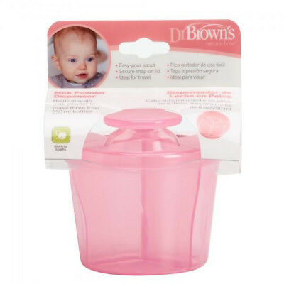 Dr Brown's Options Milk Powder Dispenser for Baby / Child / Kid 250ml / 8oz Pink